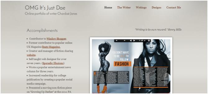Professional Writing Portfolio http://omgitsjustdae.webs.com