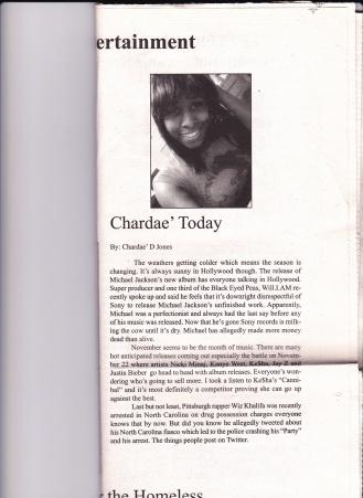 Jones, C. (2010) Chardae Today. The Carlow Chronicle (1)
