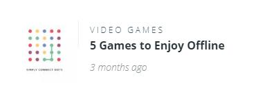 Offline gaming